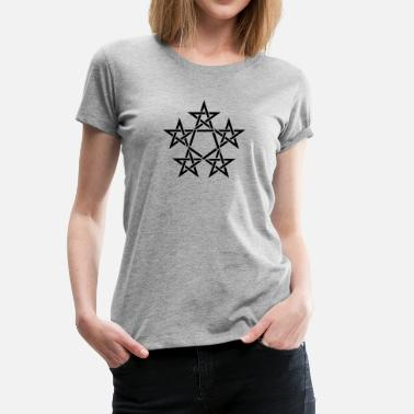Pagan Metal Pentagram, 5 Stars, Pentagon, Golden Ratio - Women's Premium T-Shirt