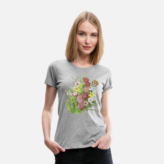 Spring T-Shirts - flowers - Women's Premium T-Shirt heather grey