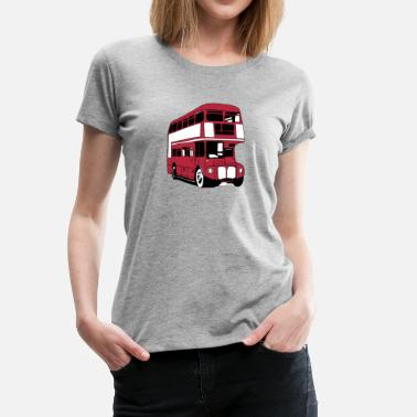 Double Decker Bus London-Bus (3 color) - Women's Premium T-Shirt