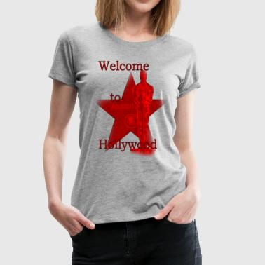 welcome to hollywood Usa LA  - Frauen Premium T-Shirt