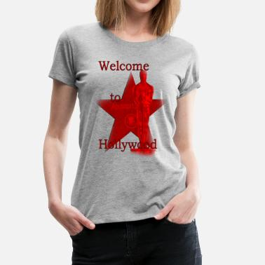 Hollywood welcome to hollywood Usa LA  - Frauen Premium T-Shirt