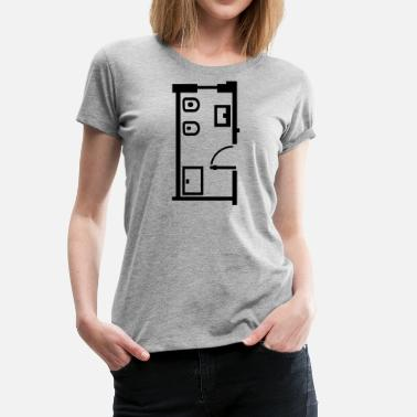 Furniture  bathroom _floor _plan _p1 - Women's Premium T-Shirt