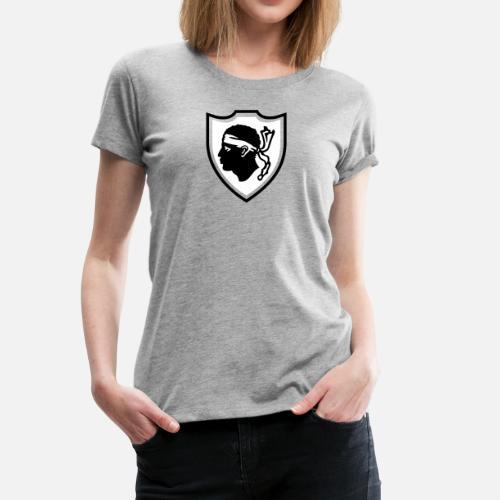 977a67dc0e66 Ecusson Corse T-shirt premium Femme   Spreadshirt