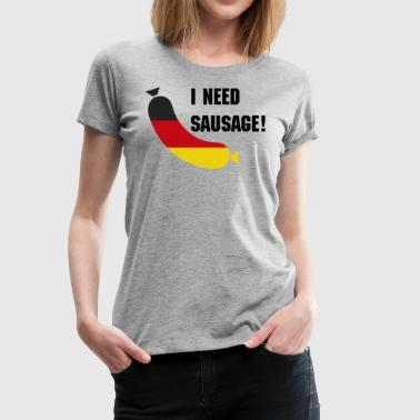 Funny German German flag in a sausage - Deutsche wurst - Women's Premium T-Shirt