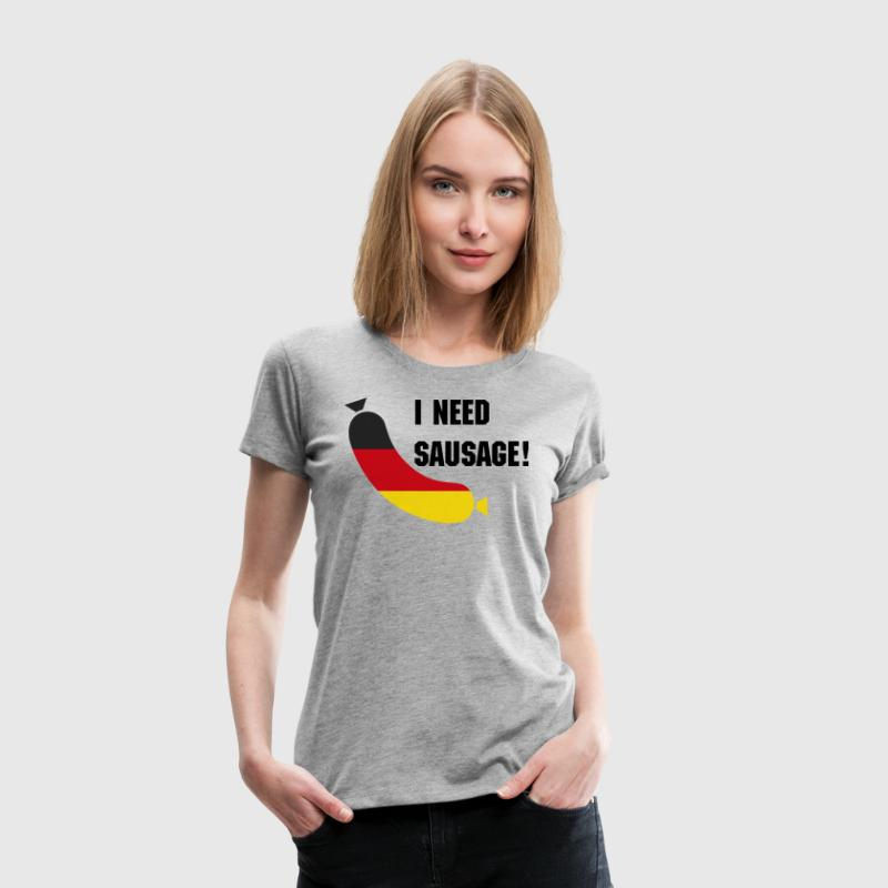 German flag in a sausage - Deutsche wurst - Women's Premium T-Shirt