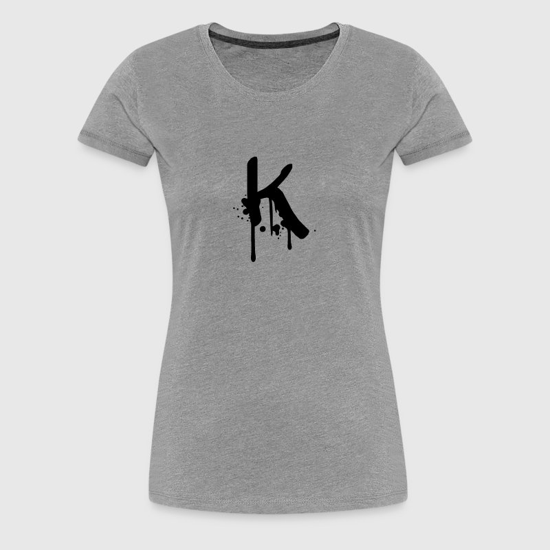 K Graffiti Tropfen Farbklex Spray - Frauen Premium T-Shirt
