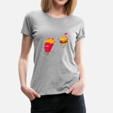 Burger Love story - Frauen Premium T-Shirt