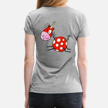 Rouge Unicorn Licorne rouge - Unicorn - Cheval - Dessin animé - T-shirt Premium Femme