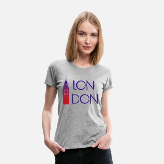 Big Ben T-Shirts - London - Women's Premium T-Shirt heather grey