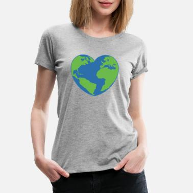 Earth Day heart - Women's Premium T-Shirt