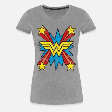DC Comics Wonder Woman Regenbogen Frauen Premium T-Shirt von Spreadshirt®