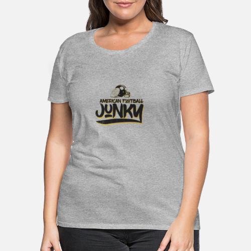 57e9a6e8a1bf6 Cadeau de quarterback du football américain T-shirt premium Femme ...