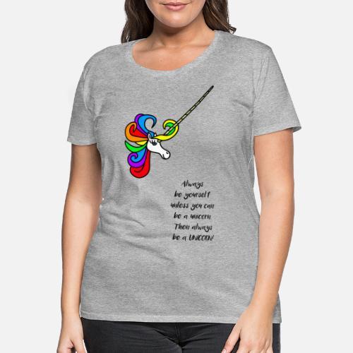 Geschenkidee Einhorn Lustige Spruche Comic Frauen Premium T Shirt