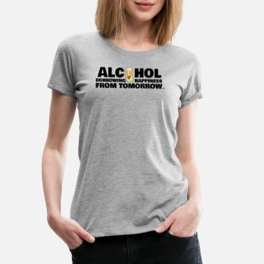 Hungover Alcohol lucky hangover beer drinking fun gift - Women's Premium T-Shirt