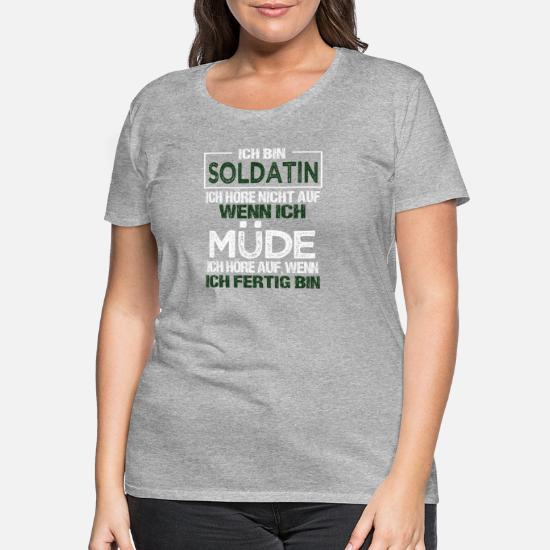 Gott erschuf Soldatin Damen T-Shirt Berufssoldatin Armee Militär Bundeswehr Job