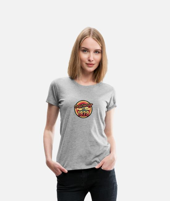 Christmas T-Shirts - Gift for the 88th birthday - vintage 1929 - Women's Premium T-Shirt heather grey