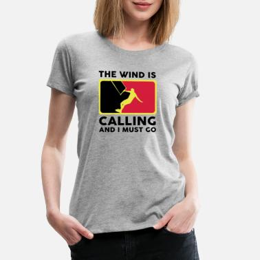 Red Kite red yellow kite - Women's Premium T-Shirt