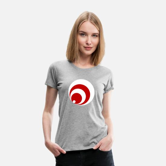 Birthday T-Shirts - circle - Women's Premium T-Shirt heather grey