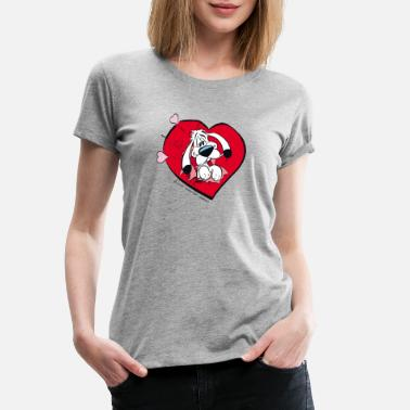 Officialbrands Asterix & Obelix - Idefix with heart - Women's Premium T-Shirt