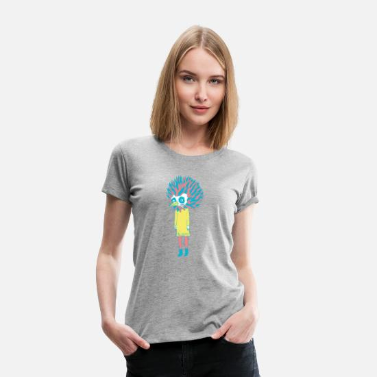 Happiness T-Shirts - sloan bird girl - Frauen Premium T-Shirt Grau meliert