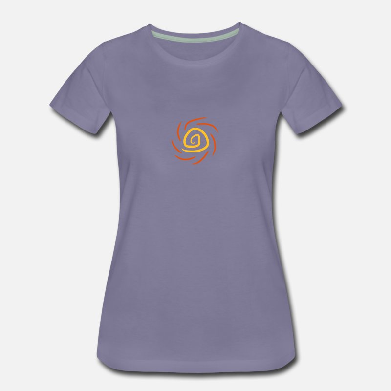 Violet Soleil Gris T Shirt Premium Vortex Femme Spirale wZiXTOuPk