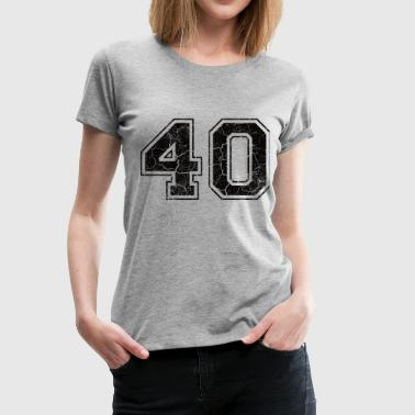Nummer 40 i Used Look - Premium-T-shirt dam
