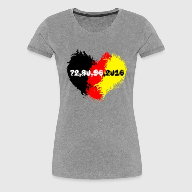germany herz 72.... - Frauen Premium T-Shirt