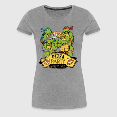 TMNT Turtles Pizza Party With My Bros - Women's Premium T-Shirt