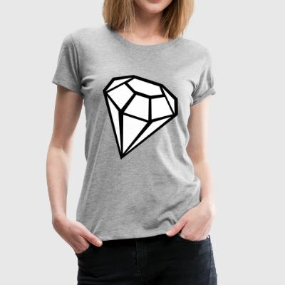 2541614 135368687 Diamond - Women's Premium T-Shirt
