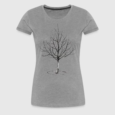 Apple Tree in Winter - Women's Premium T-Shirt