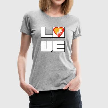 Love Land Roots Bhutan - Frauen Premium T-Shirt