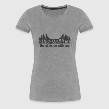 BUSHCRAFT survival  - Frauen Premium T-Shirt