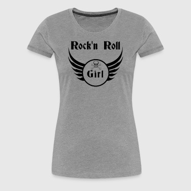 Rock and roll girl  - Frauen Premium T-Shirt
