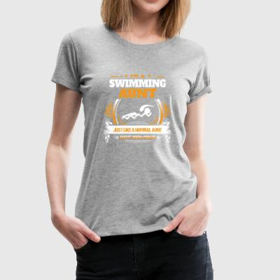 Swimming Aunt Shirt Gift Idea - Women's Premium T-Shirt