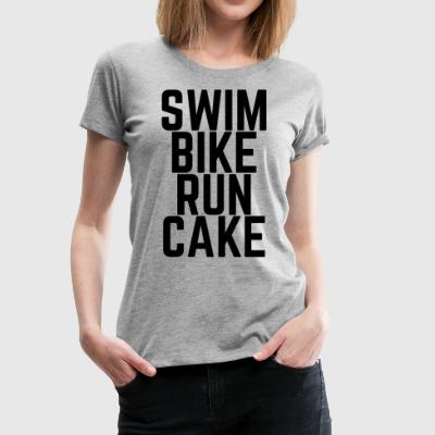 Swim Bike Run Cake! - Frauen Premium T-Shirt