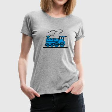Train railroad steam locomotive - Women's Premium T-Shirt