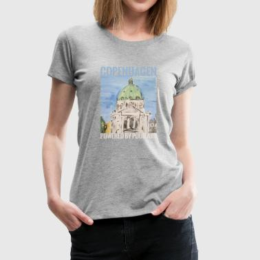 Marmorkirken city Pour art - Women's Premium T-Shirt