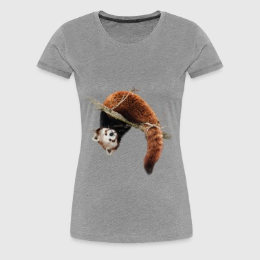 Red panda in the tree - Women's Premium T-Shirt