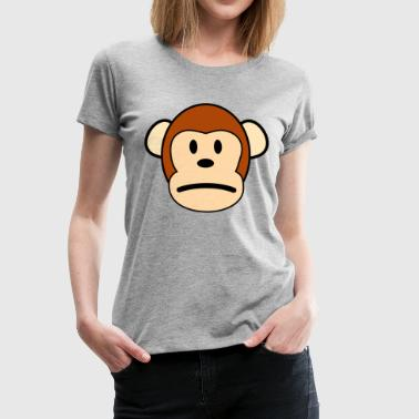 Anxious Sad Monkey - Women's Premium T-Shirt