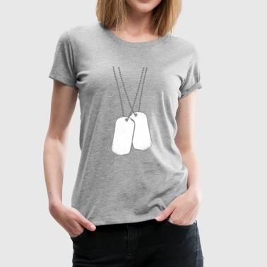 2 dog tags dog tags - Women's Premium T-Shirt