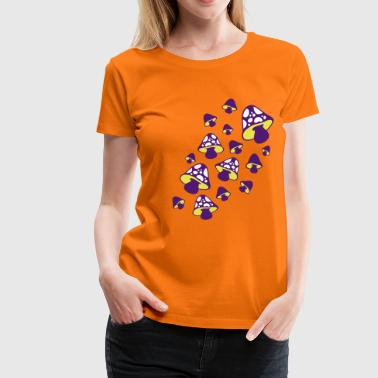 mushrooms pattern - pilzmuster - Frauen Premium T-Shirt