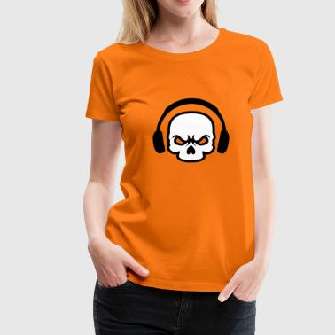Headphone Skull | Death Sound - Women's Premium T-Shirt