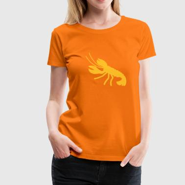 a lobster crayfish marine animal in the ocean  - Women's Premium T-Shirt