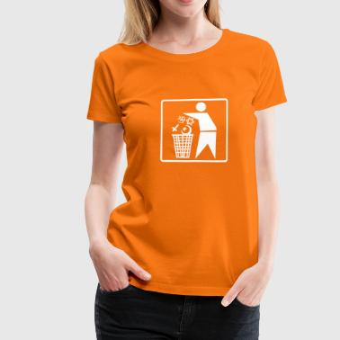 No Religion Pictogram - Frauen Premium T-Shirt