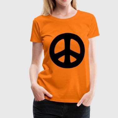 peace sign hippie - T-shirt Premium Femme