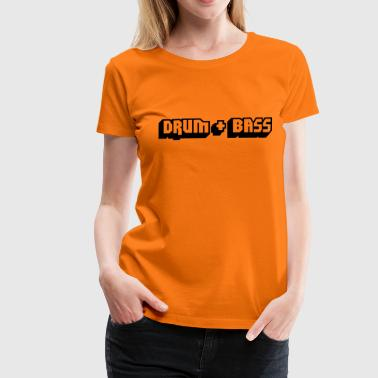 music drum + bass - Vrouwen Premium T-shirt