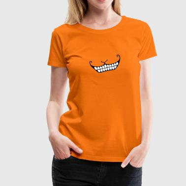 Grinsen / Cheshire cat smile (2c) - Frauen Premium T-Shirt