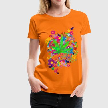 POWER FLOWER - Frauen Premium T-Shirt