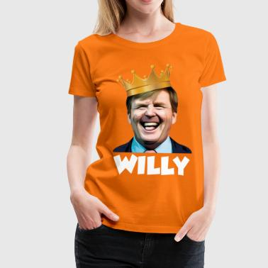 Kingsday Willy (wit) - Vrouwen Premium T-shirt