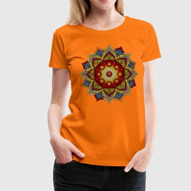 HANDPAN hang drum MANDALA natural colors - Frauen Premium T-Shirt